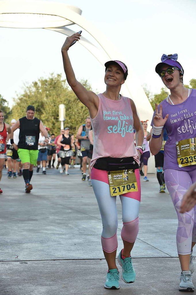 Walt Disney World Marathon! The 4th and final race of the Dopey Challenge. We dressed up as some of the famous Disney mural walls: Bubblegum Wall from Epcot and Galaxy Wall from Magic Kingdom. Leggings from Fairytale Athletics and shirts made by me!