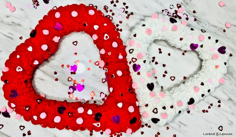 Create this wreath collage for Valentine's Day with your littlest loves! Check out this craft and many more for you to do with your kids this year!