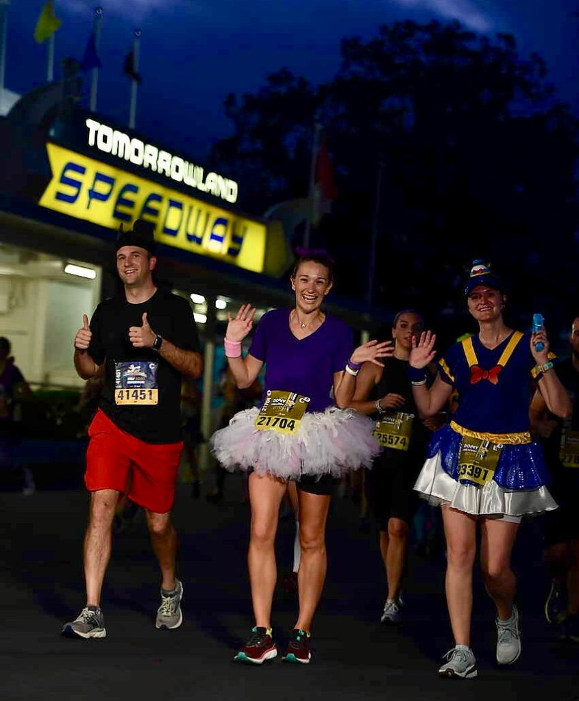 2020 runDisney Dopey Challenge Half Marathon. Race 3 of 4!  Running through Tomorrowland in Magic Kingdom.