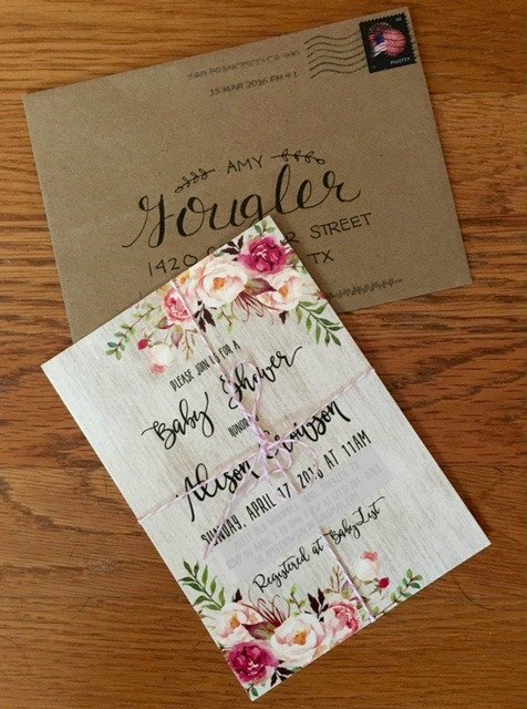 Boho floral invitations are perfect for any baby shower brunch! The mom-to-be is sure to love them! #babyshower #showerinvitations #babyshowerinvites #bohofloralshower #babygirlshowerinvitations