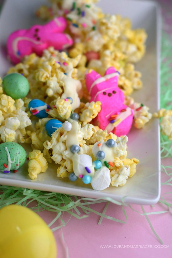 Peeps Popcorn, a fun Easter recipe!