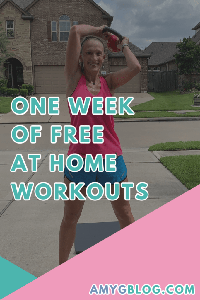 Get one week of FREE workouts that you can do at home or anywhere! These are designed to help you get your heart rate up, burn some calories and release stress and anxiety! #athomeworkouts #homefitness #weekoffreeworkouts #freeweekofworkouts