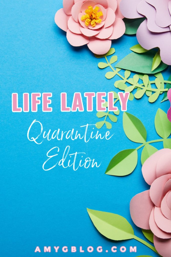 This is what's been going on in our world since quarantine started! Books I'm reading, podcasts I'm listening to, things I'm buying to keep my sanity, what I'm looking forward to and so much more! #lifelately #quarantinelife #whatimloving #homeworkoutideas #booklist #thingstobuy