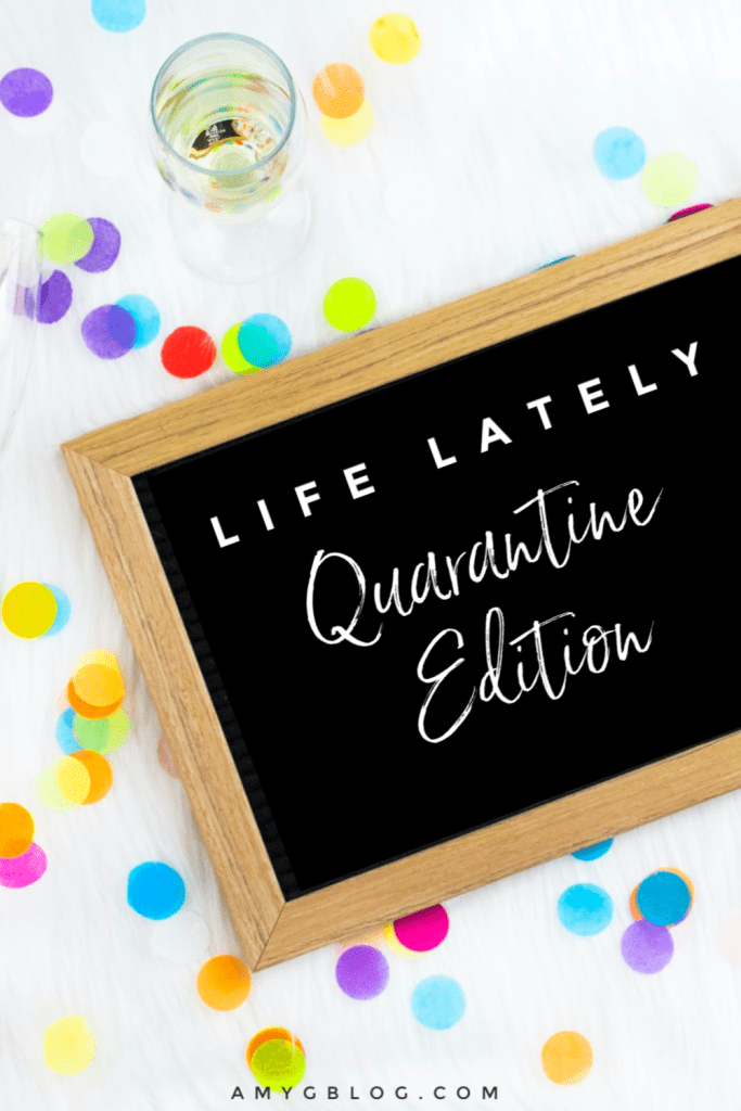 Life lately has been a little different given we've spent the last several weeks at home in quarantine due to COVID-19. I thought it would be fun to share what's been going on: what I'm reading, watching, listening to along with how I'm feeling, working out and more! #lifelately #quarantinelife #lifeduringquarantine #bookstoread