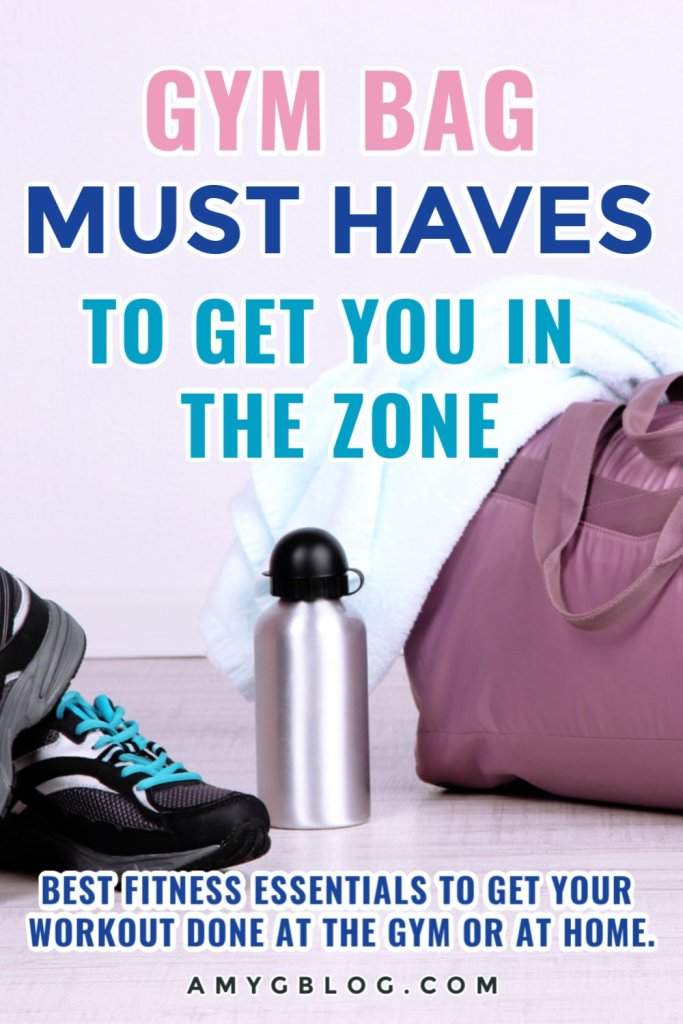 These gym bag must haves are everything mom needs to get in the zone. Get your gear together and get your workout done! #momfitnessessentials #musthavegymgear #gymbagnecessities #momfitnessgear