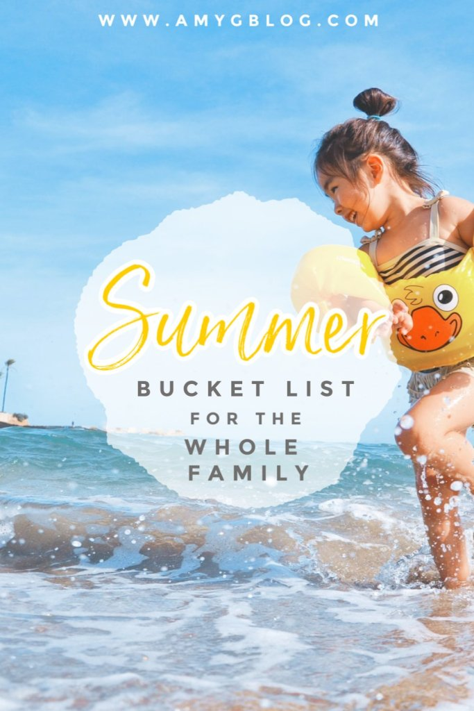 Summer is upon us! The kids are home and we're looking for fun things to do. This summer bucket list is geared towards the toddler, preschool, kindergarten age range, but really the whole family can enjoy it! #summerbucketlist #toddlersummerbucketlist #toddlerbusylist #whattodothissummer #summerideas #summerfun
