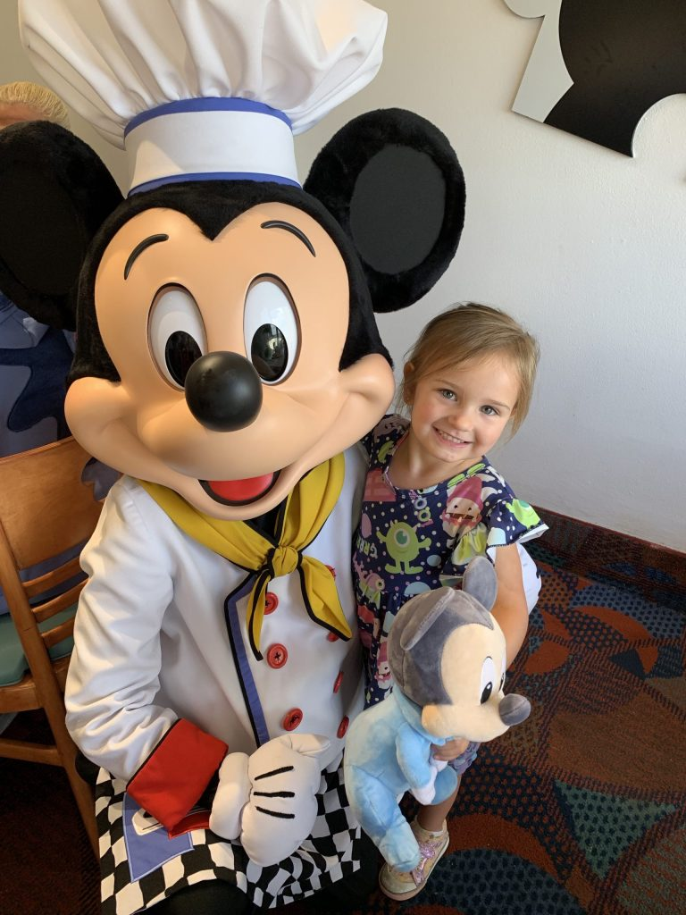 Chloe Grace with Mickey at Disney World - October 2019