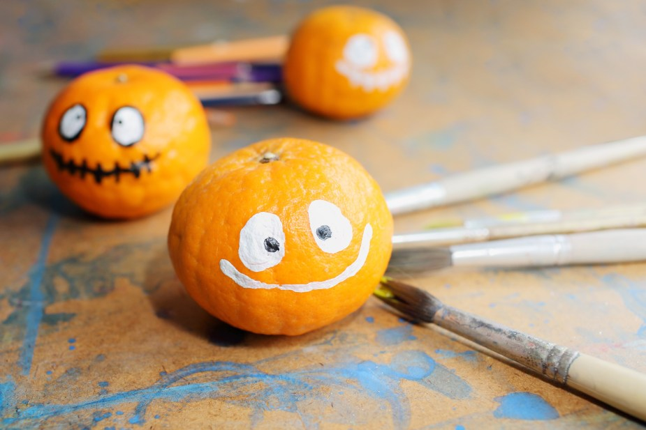 Halloween crafts that double as decor - Painted Pumpkins