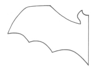 Click for printable bat for tracing