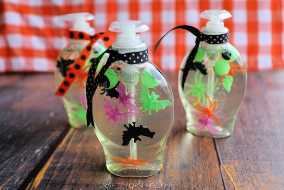Halloween crafts that double as decor - Soap bottles