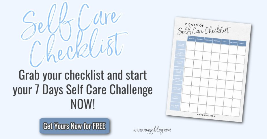 Self Care for Moms printable checklist