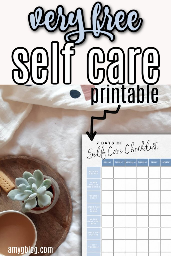 This free printable will help with self care practice for a week to help revitalize you! #selfcareformoms #momsneedlovetoo