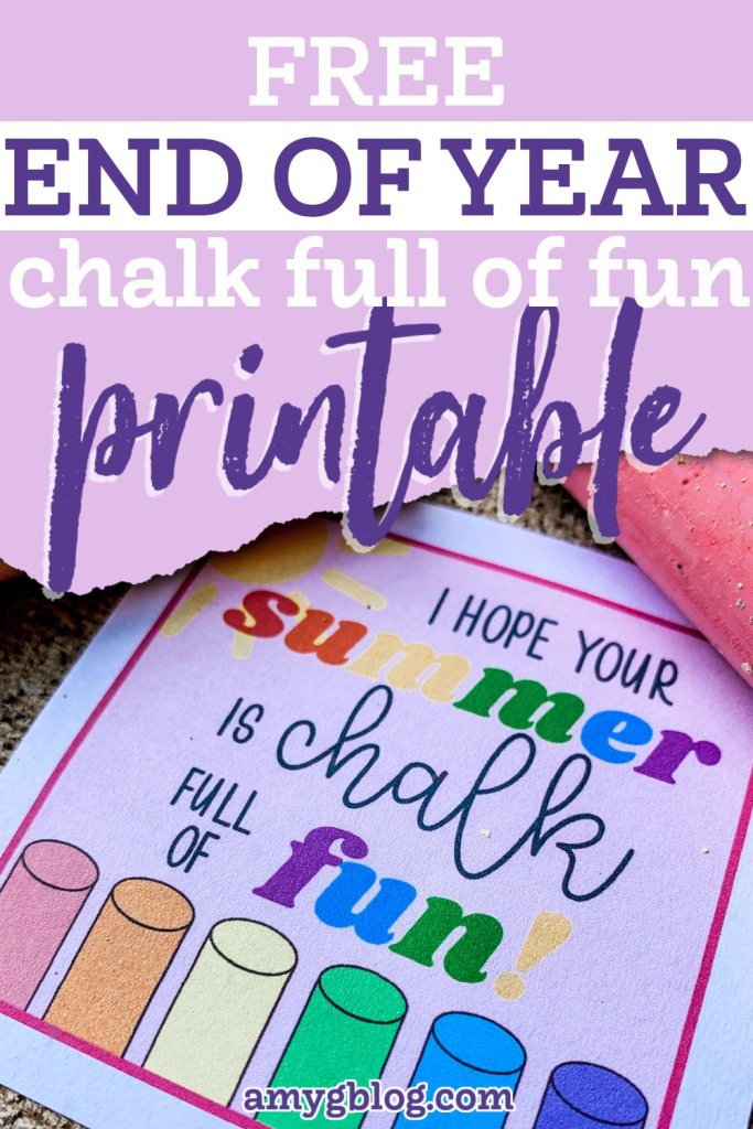 Get your free printable chalk gift tags! The perfect end of the school year gift for your kids to give their classmates. #endofyeargift #classgift #summergift #summergifttags