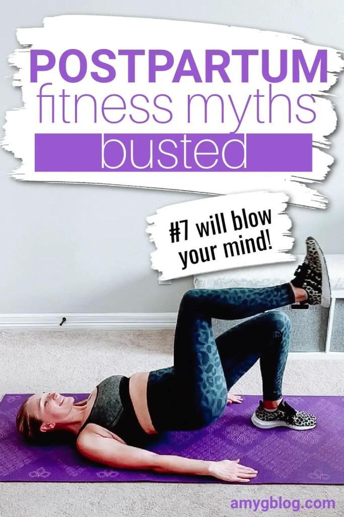 These 8 postpartum fitness myths will reshape the way you see postpartum fitness! #postpartumrecovery #postpartumfitness #postpartumfitnessmotivation #fitnessformoms