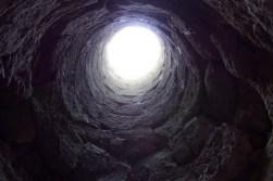 Light tunnel from inside the Eger Castle