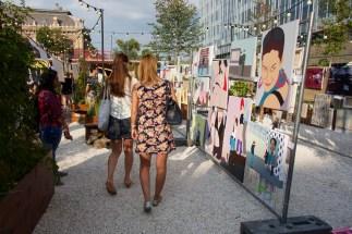 Pop-up art market