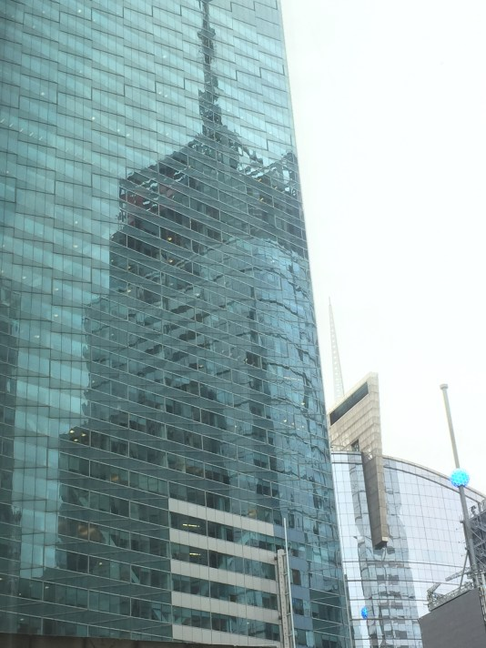 The newer buildings offer great reflections