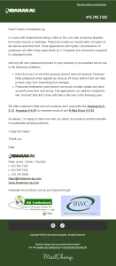 Light HTML template for a organic grower service.