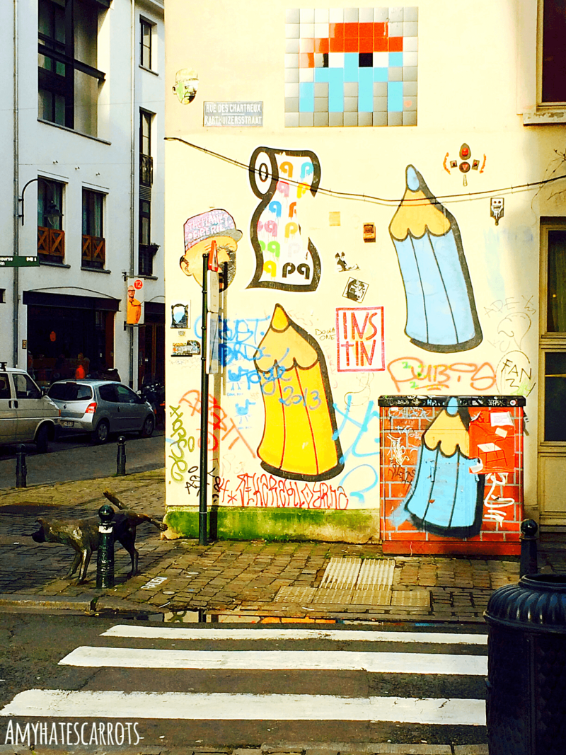 Cheery & colorful pop art in Brussels, Belgium along with some accidental travel tips that I hope bring a giggle to your day!