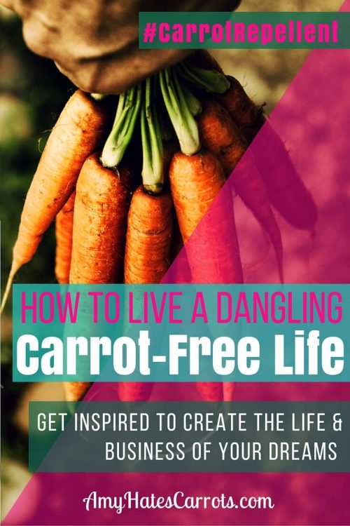 How To Live A Dangling Carrot-Free Life