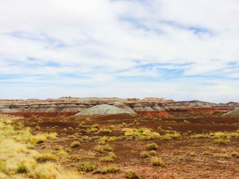 Stopping at The Painted Desert National Park in Arizona during my solo 48 state road trip was an absolute must!