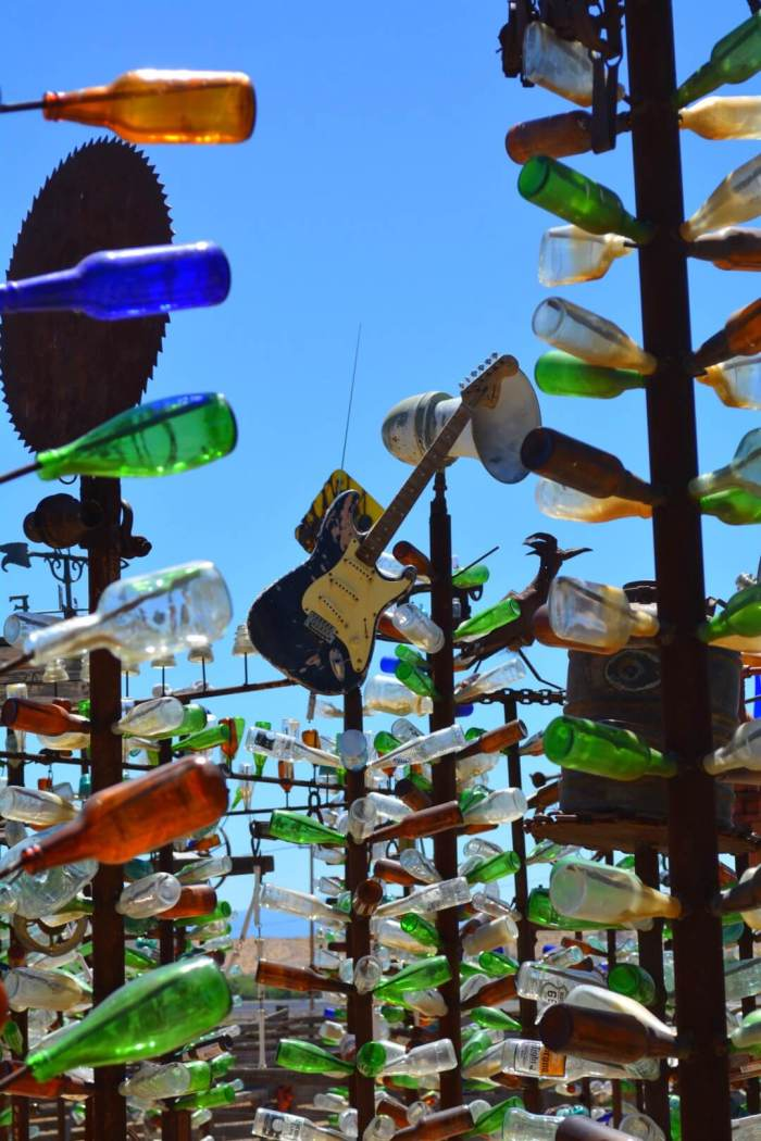 Elmer's Bottle Tree Ranch is a must see detour on your drive to Las Vegas, look at how cute it is!! :D