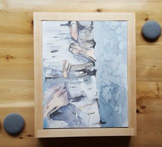"""8""""x1-"""" Birch w/ Maple Frame - SOLD"""