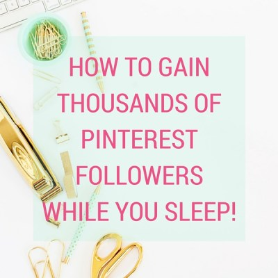 How to Gain Thousands of Pinterest Followers using Boardbooster