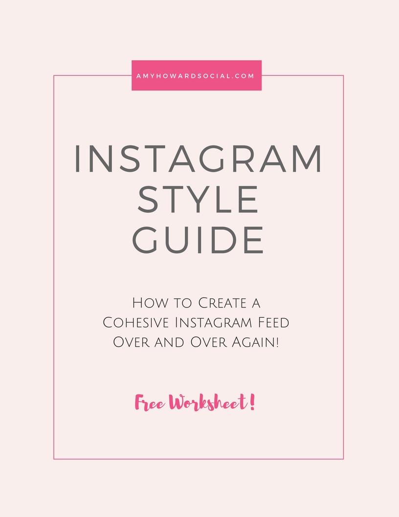 Instagram Style Guide Free Worksheet