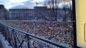They removed the locks from the famous bridge but I love that they found them a new home. SO many!!