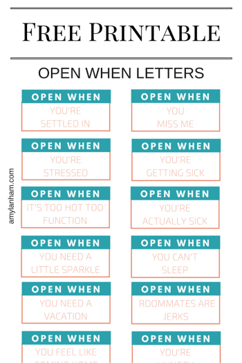 Open When Printable