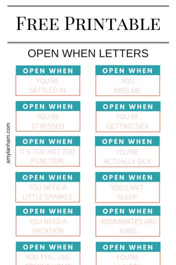 Open When Printable