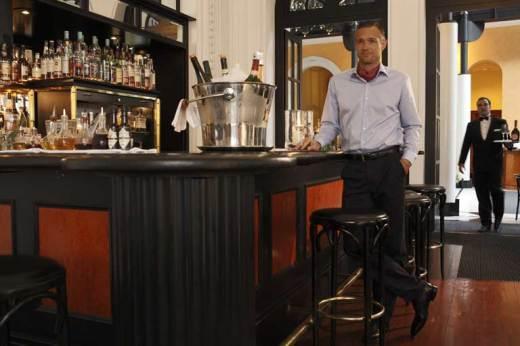 """Martini--shaken, not stirred,"" in the Victoria-Jungfrau bar. Photo by the Victoria-Jungfrau Hotel and Spa."