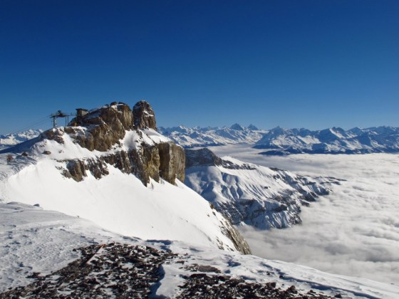 The view atop Gstaad's Glacier 3000