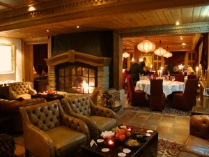 Grand Hotel Park Gstaad lounge and Marco Polo restaurant