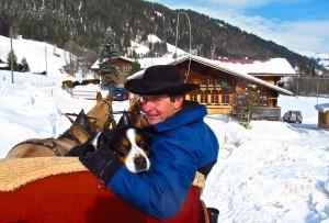 Johann von Grunigen offer sleigh rides through Schlittenfahrten Gstaad-Saanenland