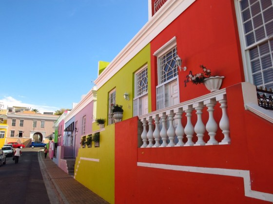 Cape Town's Malay Quarter is renowned for its colorful facades. Credit Amy Laughinghouse.