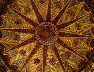 Pinecone gazebo ceiling