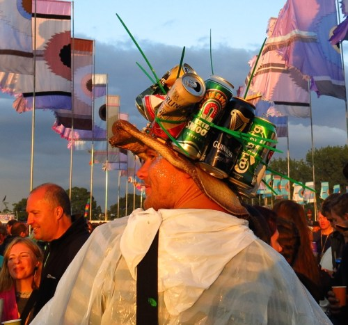 "Ten gallon...er, make that ten PINT...hat. Getting a ""head"" start on the party."