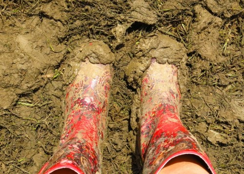 These boots were made for walking. Actually, they were made for squelching through sole-sucking knee high mud.