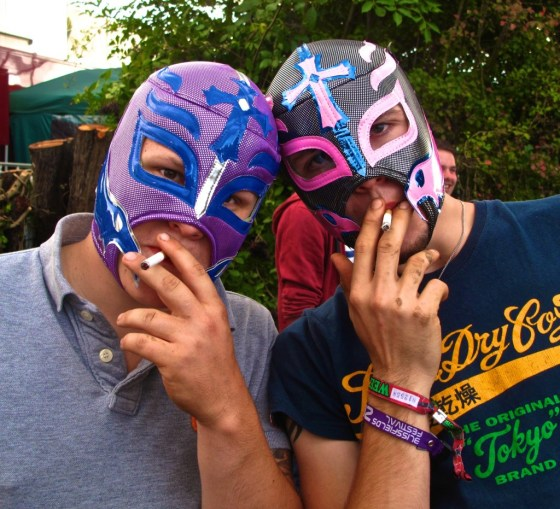 Mexican wrestling masks = plausible deniability.