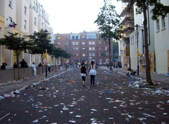 Zombie apocalypse...or Carnival aftermath?