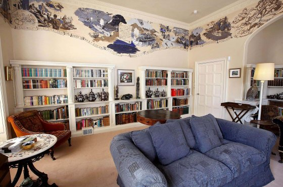 Library at Greenway, Agatha Christie's home in Devon, England. ©NTPL:Mark Passmore