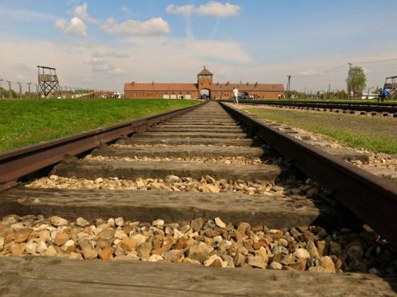 Birkenhau railroad tracks.