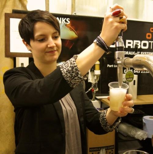 Carbotek dispensers work with semi-sparkling wine, beer and cider.