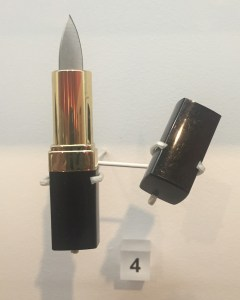 This tiny blade, disguised in a lipstick case, is worthy of a Bond babe.