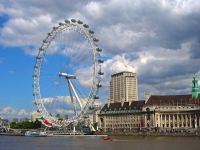 London Eye viewed across the Thames