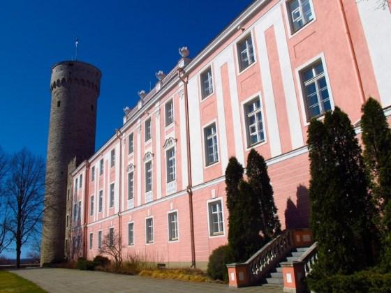 Pikk Hermann Tower and the Baroque Toompea Palace in Tallinn, Estonia