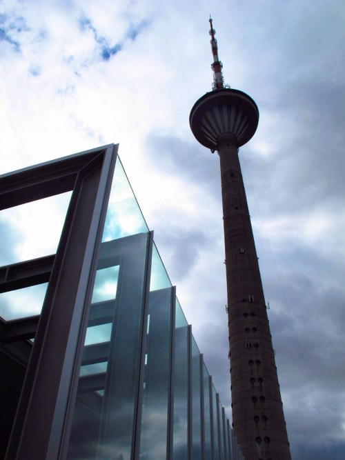 In 1991, Tallinn's TV tower was the site of a dramatic protest against Soviet forces. Copyright Amy Laughinghouse.