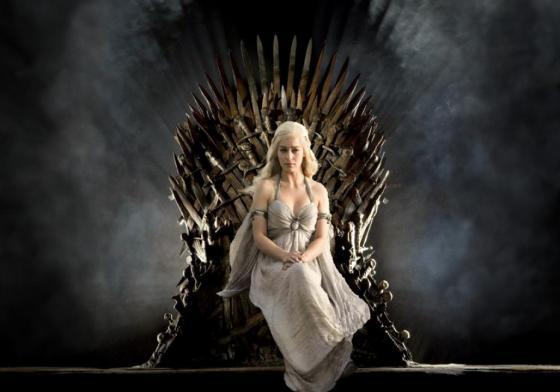"""""""Game of Thrones"""" promotional shot of Emilia Clarke as Daenerys Targaryen."""